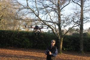 Drone multirotors - test du Canon 550D en vidéo